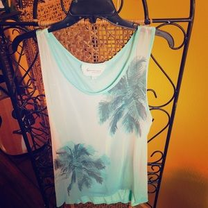 Vince Camuto Ocean Blue tank 2/$10